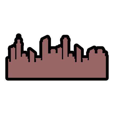 isolated city view icon vector illustration graphic design Banco de Imagens - 80726225
