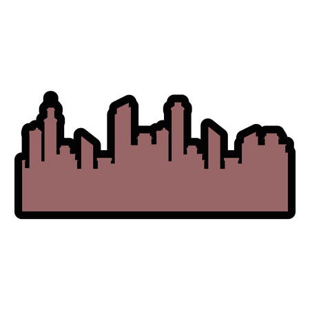 isolated city view icon vector illustration graphic design