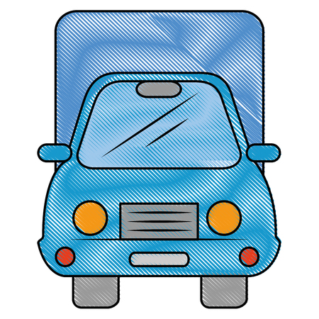 isolated merchandise truck icon vector illustration graphic design
