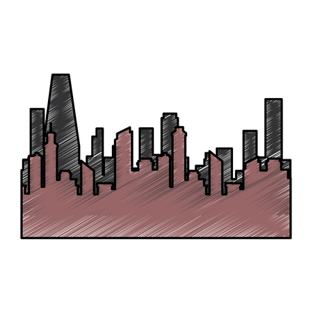 isolated city view icon vector illustration graphic design Stock Vector - 80726297