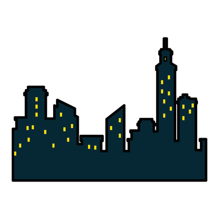 isolated city view icon vector illustration graphic design Stock Vector - 80726353