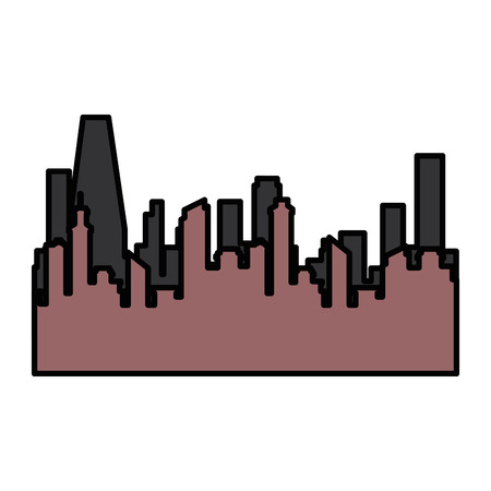isolated city view icon vector illustration graphic design Stock Vector - 80726352