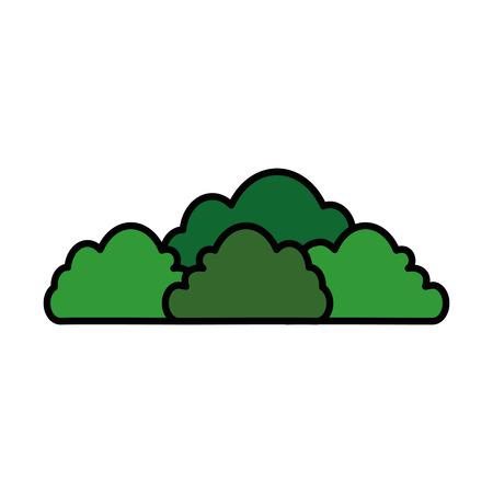 isolated cute bush icon vector illustration graphic design