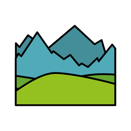 isolated snowy mountains view icon vector illustration graphic design
