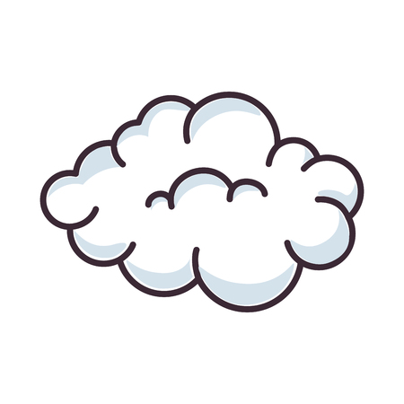 孤立したかわいい雲のアイコン ベクトル イラスト グラフィック デザイン