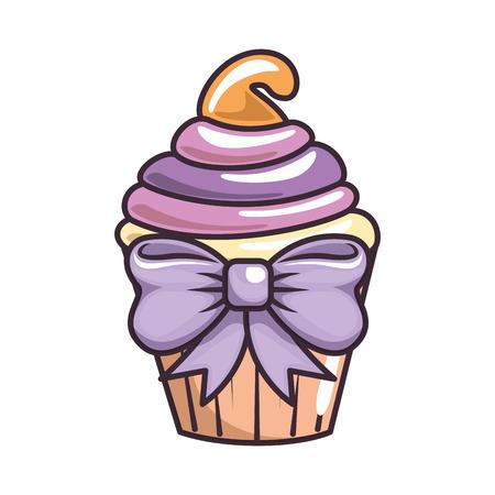cisolated cute cupcake icon vector illustration graphic design