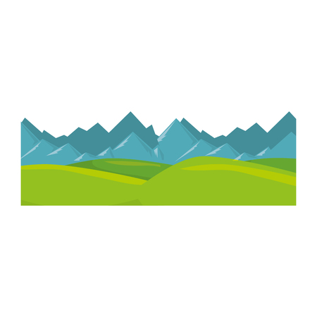 isolated snowy mountains view mountain vector illustration design Ilustração