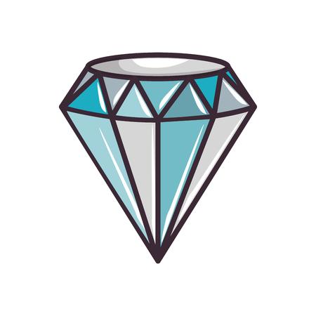 cute blue diamond icon vector illustration graphic design