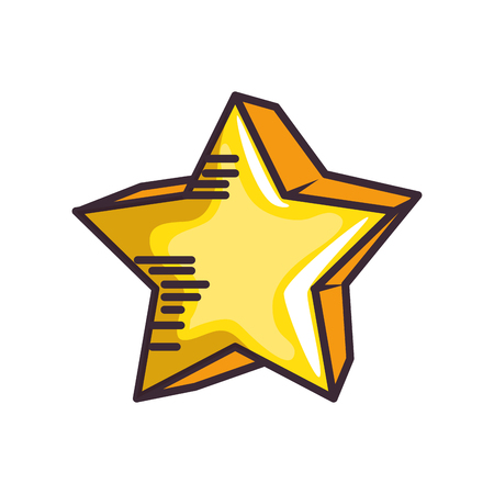 isolated cute star icon vector illustration graphic design