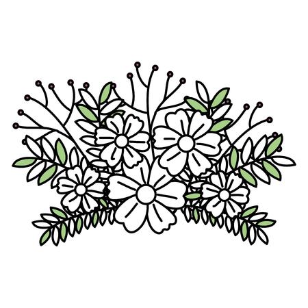 simple frame: leafs plant decorative icon vector illustration design