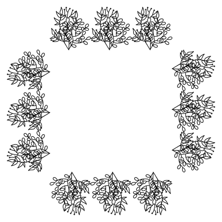 simple frame: square frame deoration floral vector illustration design Illustration