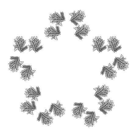 Progettazione floreale a forma di stella dell'illustrazione di vettore della struttura