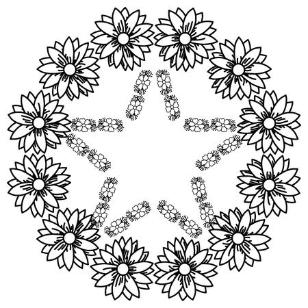 circulaire frame deoration floral vector illustratie ontwerp