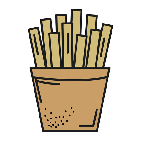 calorie: potatoes fries isolated icon vector ilustration design Illustration