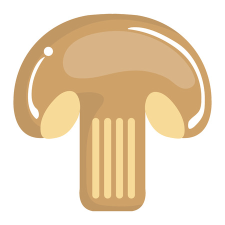 Fresh mushroom isolated icon vector illustration design