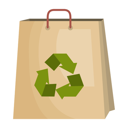 shopping bag with recycle symbol vector illustration design