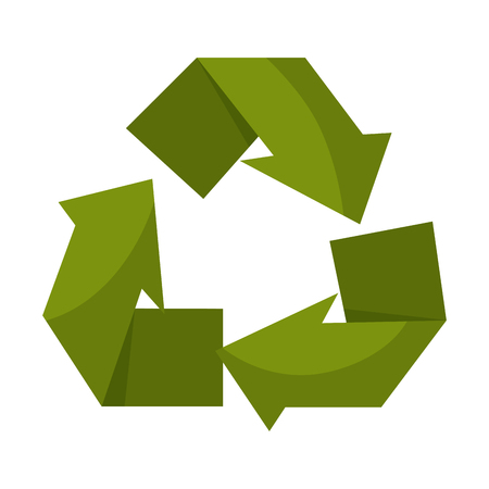 recycle arrows symbol icon vector illustration design Illusztráció