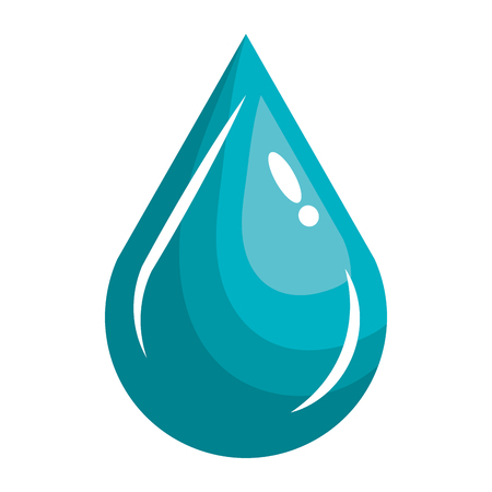 waterdruppel ecologie pictogram vector illustratie ontwerp