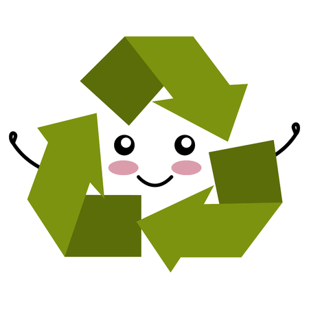 responsibility: recycle arrows symbol icon vector illustration design Illustration