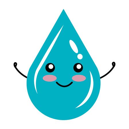 Gota de agua icono de la ecología ilustración vectorial de diseño Foto de archivo - 80759524