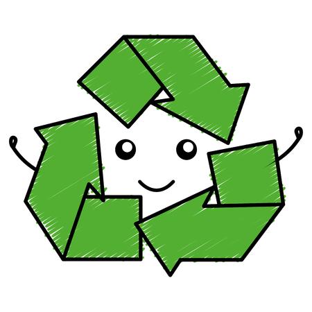 Riciclare frecce icona simbolo illustrazione vettoriale di progettazione Archivio Fotografico - 80759532