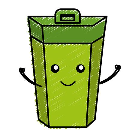 Ökologie Recycling bin isoliert Symbol Vektor-Illustration Design
