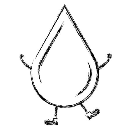 물 드롭 생태학 아이콘 벡터 일러스트 레이 션 디자인