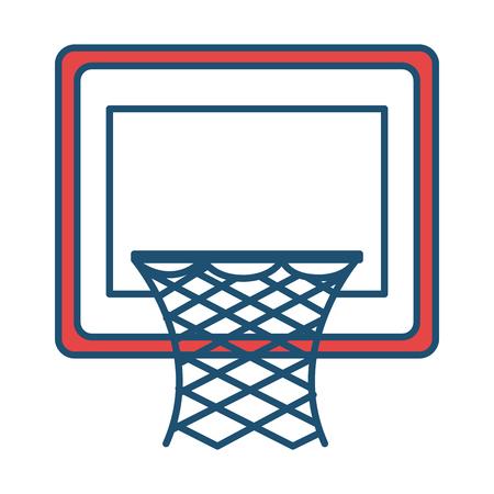 バスケット ボール バスケット分離アイコン ベクトル イラスト デザイン