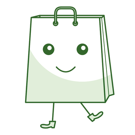 shopping bag comic character vector illustration design Stock Vector - 80759572