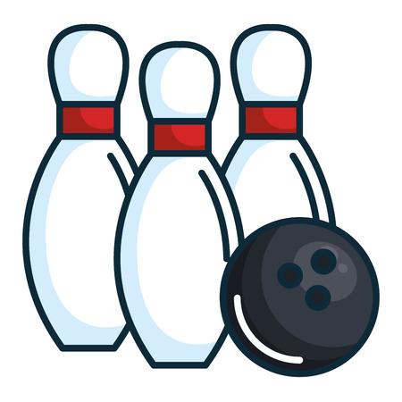 bowling dennen geïsoleerde pictogram vector illustratie ontwerp