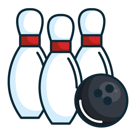 Bowling Kiefern isoliert Icon Vektor-Illustration Design Standard-Bild - 80759600