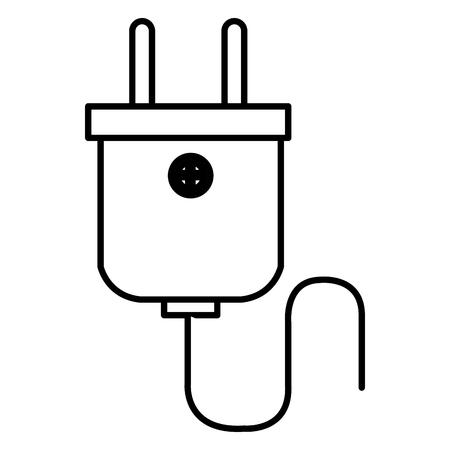 energie plug geïsoleerde pictogram vector illustratie ontwerp Stock Illustratie