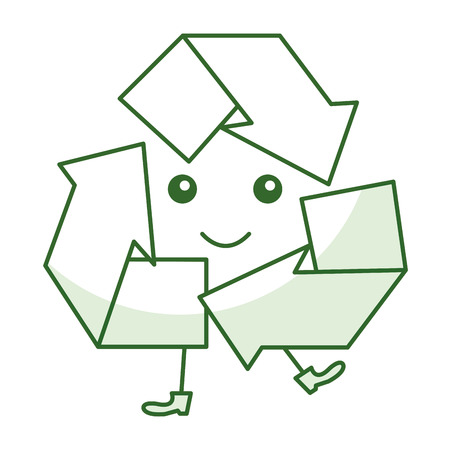矢印シンボル アイコン ベクトル イラスト デザインをリサイクルします。  イラスト・ベクター素材