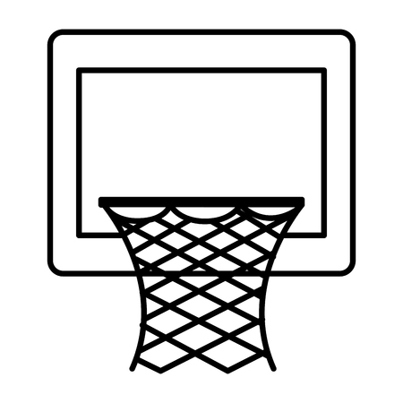 basketball basket isolated icon vector illustration design Stock Vector - 80759635