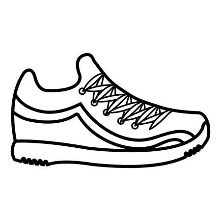 テニス シューズのアイコン ベクトル イラスト デザインを分離しました。