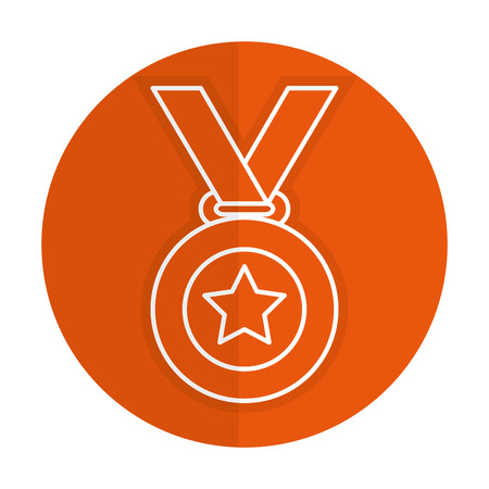 champ: champion medal with star vector illustration design
