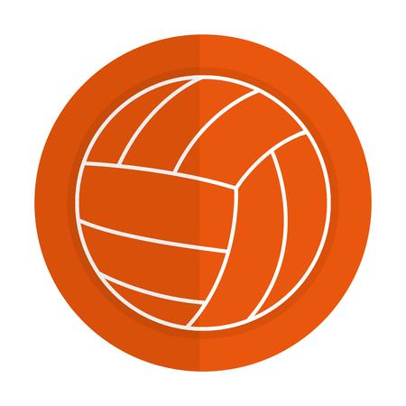 volleyball balloon isolated icon vector illustration design Ilustração