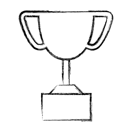 champ: trophy cup isolated icon vector illustration design Illustration