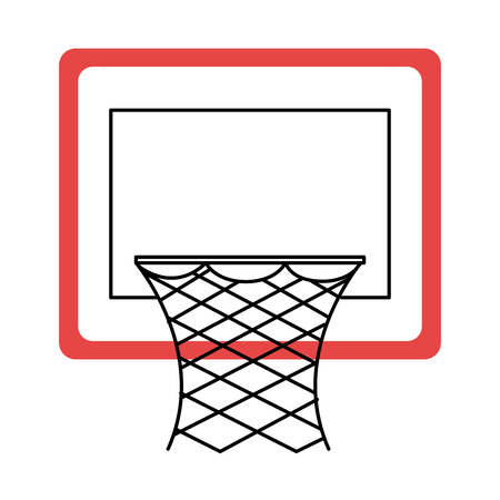 basketball basket isolated icon vector illustration design