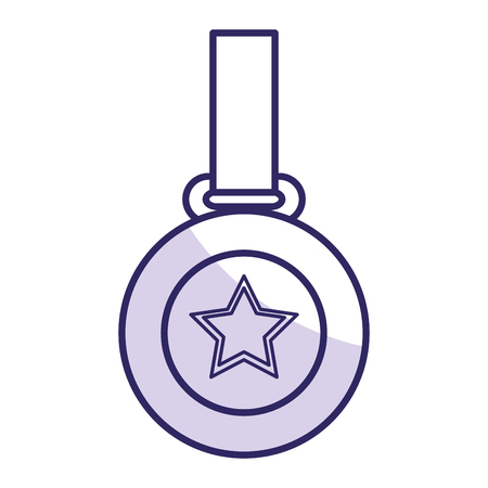 champion medal with star vector illustration design