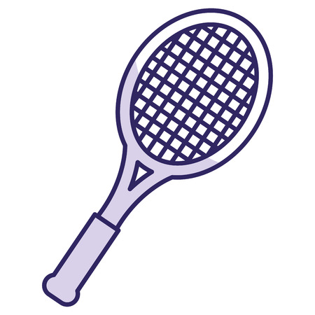 tennis racket isolated icon vector illustration design Illustration