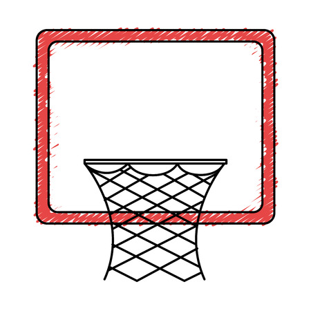 basketball basket isolated icon vector illustration design Stock Vector - 80759490