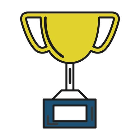 trophy cup isolated icon vector illustration design Illusztráció