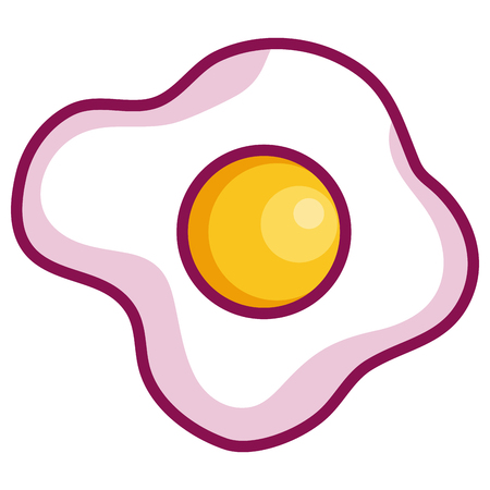 egg fried isolated icon vector illustration design