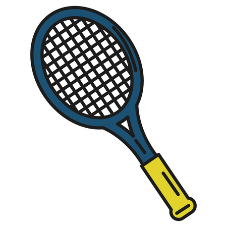 implement: tennis racket isolated icon vector illustration design Illustration