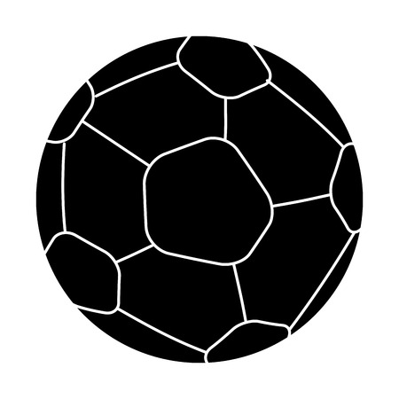 soccer balloon isolated icon vector illustration design Illustration