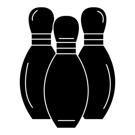 アイコン ベクトル イラスト デザインを分離した松をボウリング