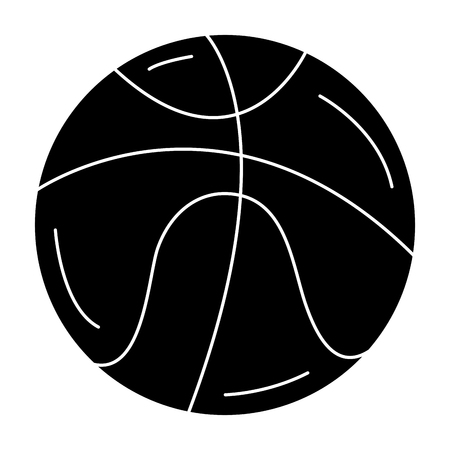 basketball balloon isolated icon vector illustration design Illustration