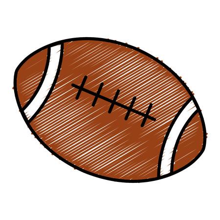 american football balloon icon vector illustration design Stock Vector - 80761296