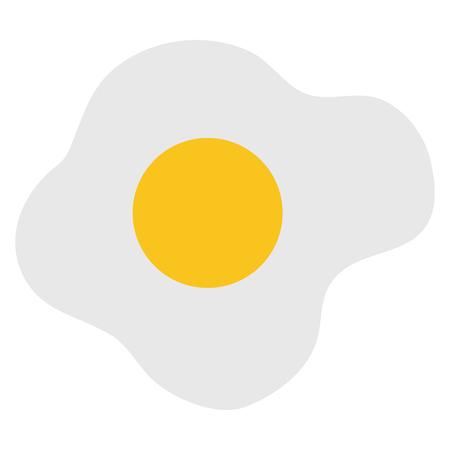 Ei gebakken geïsoleerde pictogram vector illustratie ontwerp Stockfoto - 80761337